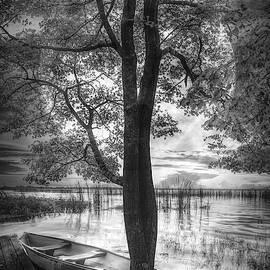Peaceful Float in Black and White by Debra and Dave Vanderlaan