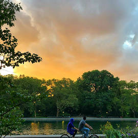 Peaceful Sunset and Bicycle Built for Two by Miriam Danar