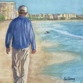 Peaceful Walk at Siesta Key by Sue Carmony