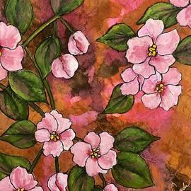 Peach Blossom Prelude by Vardi Art