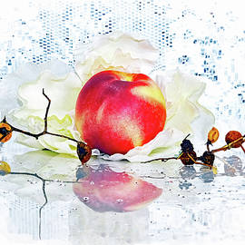 Peach Still Life by Constance Lowery