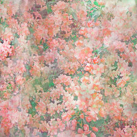 Peachy Floral by Aimee L Maher ALM GALLERY