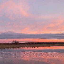 Peachy Pink Sunset at Boy Lake #4 by Patti Deters