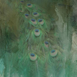 Peafowl in Abstract by Kelley Freel-Ebner