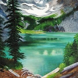 Peek At Lake Louise by Sheldon Goldman