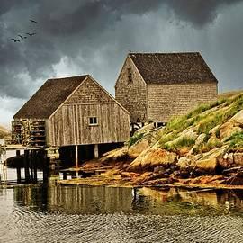 Fishing Shacks At Peggys Cove by Chuck Burdick