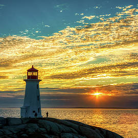 Peggy's Cove Lighthouse at Sunset by Tatiana Travelways
