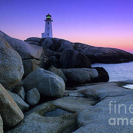 Peggy's Cove Lighthouse by Bob Christopher