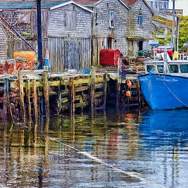 Peggys Cove piers and boats by Tatiana Travelways