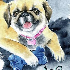 Peke Pekingese Dog Painting by Dora Hathazi Mendes