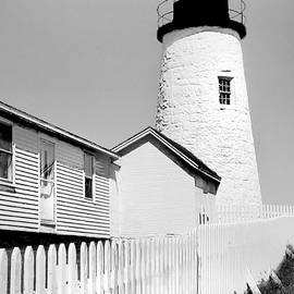 Pemaquid Light Monochrome by Jerry Griffin