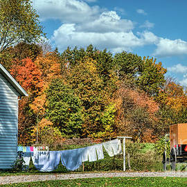 Pennsylvania Amish Autumn Afternoon by Janice Pariza