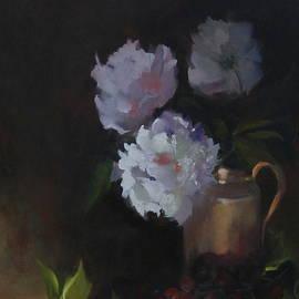 Peonies Still Life by Julie P Turner