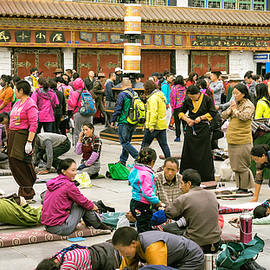 People Praying At The Buddhist Monastery, Tibet, #25, 6-2016 by Vlad Meytin