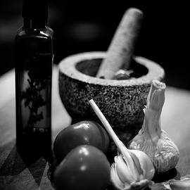 Pestle and Mortar in Black and White by Cassi Moghan