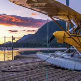 Petersburg Alaska Piper Seaplane Sunset by Mike Reid