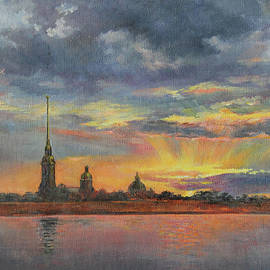 Petersburg. Space between skies and the river by Leonid Polotsky