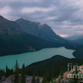 Peyto Lake Sunset by Norma Brandsberg