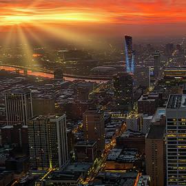 Philadelphia Skyline USA by Susan Candelario