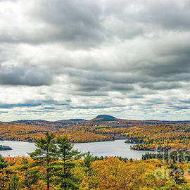 Phillips Lake from Sunset Rock Dedham Maine by Daniel VanWart
