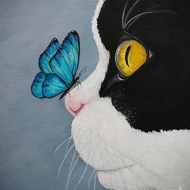 Phoebe The Cat- Butterfly Kisses by Danett Britt