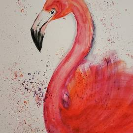 Phoebe the Flamingo by Terry Feather