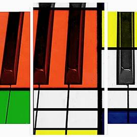 Piano Keys In Abstract by Toni Abdnour