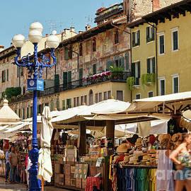 Piazza Delle Erbe Verona by Catherine Sullivan