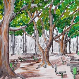 Picnic Area In Santa Monica by Irving Starr