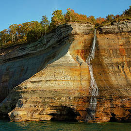 Pictured Rocks Bridal Veil Falls One by Bob Phillips