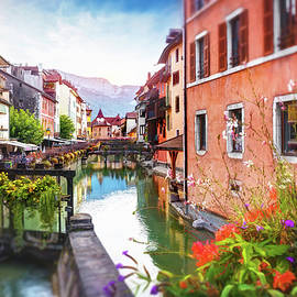 Picturesque Canals of Old Annecy France  by Carol Japp
