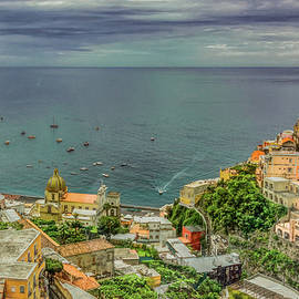 Picturesque Positano, Painterly by Marcy Wielfaert