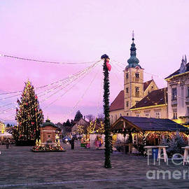 Picturesque Samobor Square Croatia by Jasna Dragun
