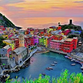 Picturesque Sunrise in Vernazza by Frozen in Time Fine Art Photography