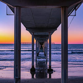 Pier Into The Sunset by Denise Vasquez