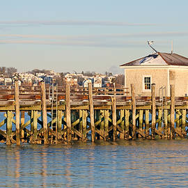 Piers at South Portland Maine by Lisa Cuipa