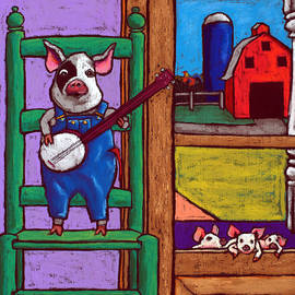 Pig In A Chair by David Hinds