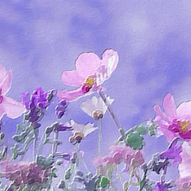 Piink and Blue Wildflowers by Femina Photo Art By Maggie