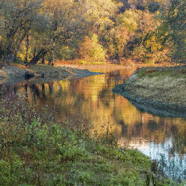 Pike Island Channel Painterly Reflections by Patti Deters