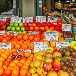 Pike Place Market Fruit Stand by Lorraine Baum