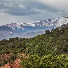 Pike's Peak Side View by Lorraine Baum