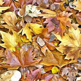 Pile of Autumn leaves II