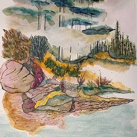 Pine Tress Far Away by Inez Ellen Titchenal