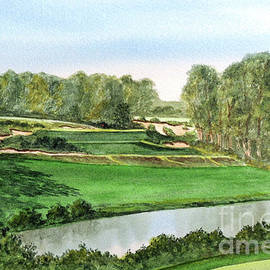 Pine Valley Golf Course New Jersey 5th Hole by Bill Holkham