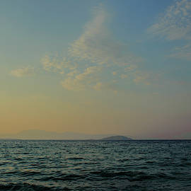 Pink and Orange Sky Over the Mediterranean by Cassi Moghan