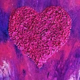 Pink and Purple Heart by Kelly Howard