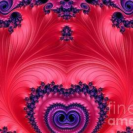 Pink and Purple Hearts of Love Resurrection at Dawn Fractal Abstract by Rose Santuci-Sofranko