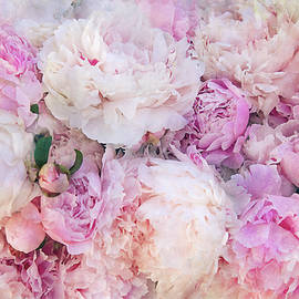Pink and White Peonies by Peggy Collins