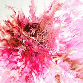 Pink Burst Abstract by Cindy Hotchkiss