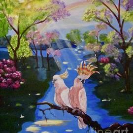 Pink Cockatoos by Phyllis Kaltenbach